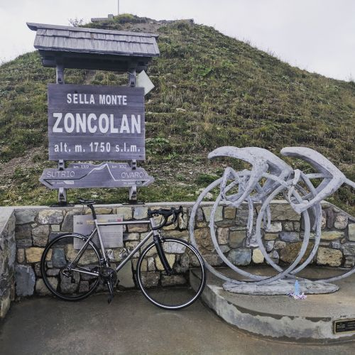 Atop Mt Zoncolan, it's quite a climb.