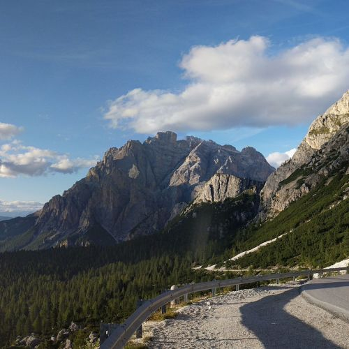 The view from Passo Valparola.